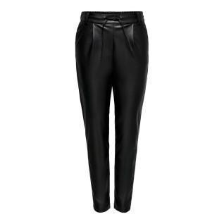 Women's trousers Only onlpoptrash leather pnt