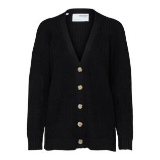 Women's cardigan Selected Emmy knit button