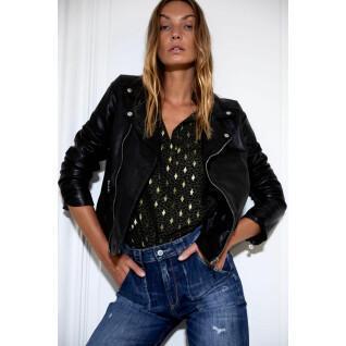Leather jacket Le Temps Des Cerises Nancy