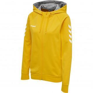 Women's zip-up hooded jacket Hummel hmlGO cotton