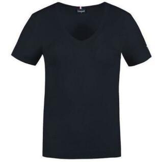 Women's T-shirt Le Coq Sportif terre battue col v