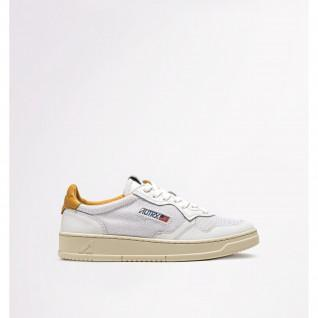 Women's sneakers Autry 01 Low Leather/Kevlar White/Gold