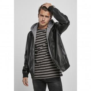 Hooded jacket Urban Classics fleece fake leather