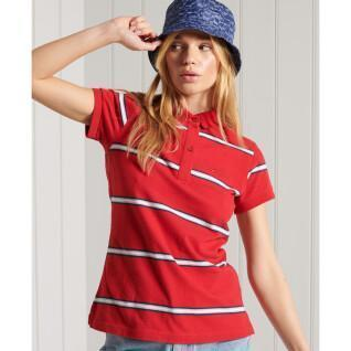 Organic cotton polo shirt for women Superdry Academy